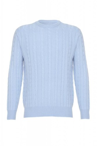 Pure Cashmere-Maglione da uomo blu XL