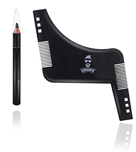 Bart schablone Tool für Bart-Gestaltung und Bartstyling, Schablone und Kamm - Bart Styling Tool