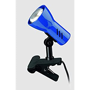 Briloner Leuchten Klemmleuchte dreh- und schwenkbar, Klemmlampe mit Schnurschalter, Blau, 40W, Metall, 40 W 2794-010P
