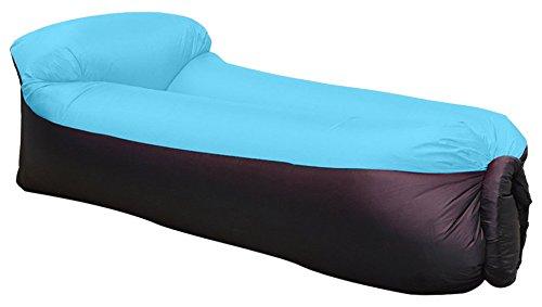 Waitiee Sofá hinchable resistente al agua con cojín integrado, color azul, adecuado...