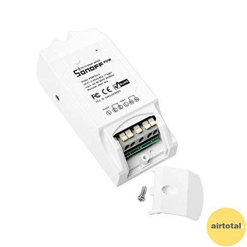 RPS Sonoff POW, Conmutador inalámbrico WiFi y medidor de consumo y de energía, control de luces y aparatos eléctricos (Compatible con Alexa Amazon y Google Home) ♣