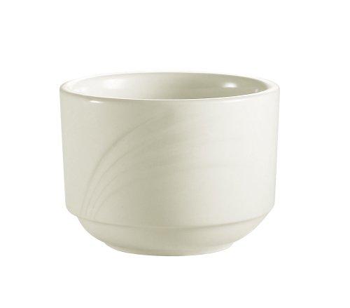 CAC China geprägtes weißes Porzellan Bouillon 3-1/2-Inch 7.5-Ounc Bone white China Bouillon