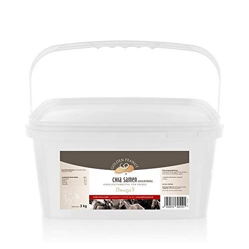 Golden Peanut Chia Samen Einzelfuttermittel für Pferde 3 kg Eimer Omega 4