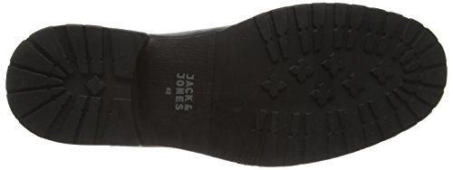 Jack & Jones Jjkingsley Leather/suede Boot 1, Bottines à doublure homme Noir - Noir