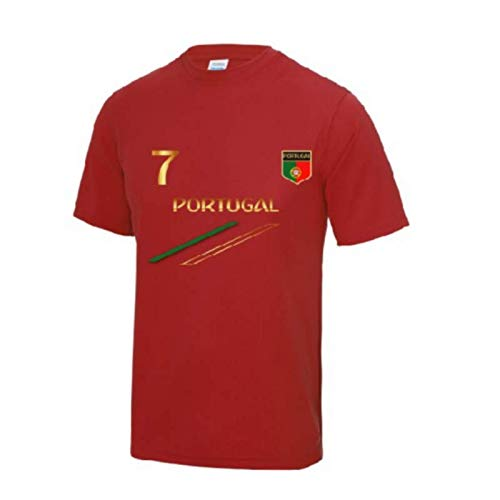 ROLY Maillot - Camiseta fútbol Portugal Hombre, Color