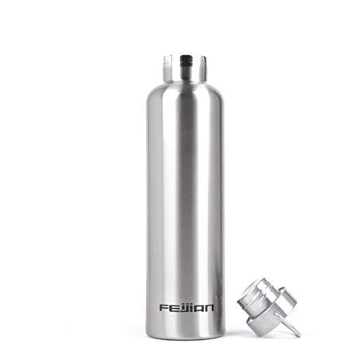 Sport-Wasserflasche Edelstahl-Vakuum-Thermoskanne, exquisites Aussehen und Tragbarkeit Bergsteigerflasche, 3 Größen (500ML, 750ML, 1000ML), 3 Farben (Stahl, Grün, Blau)