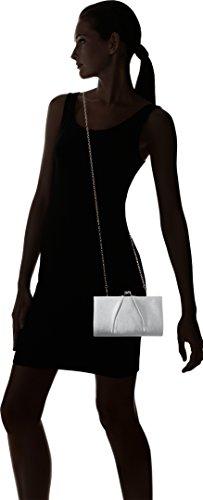Swanky Swans - Mira Satin Classic Frame Bag, Pochette da giorno Donna Argento (Silver)