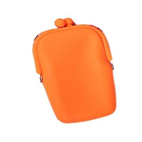 Tankerstreet Carino Mini Raccoglitore, Silicone Portamonete Ragazza Storage Bag per Spiccioli Vari Colori �?Rosa Arancione