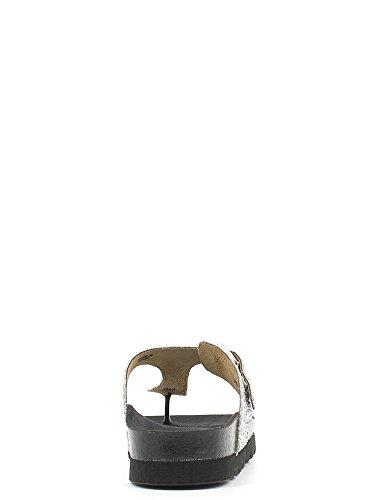 GRUNLAND Deck 0639 infradito glitter argento donna Argento