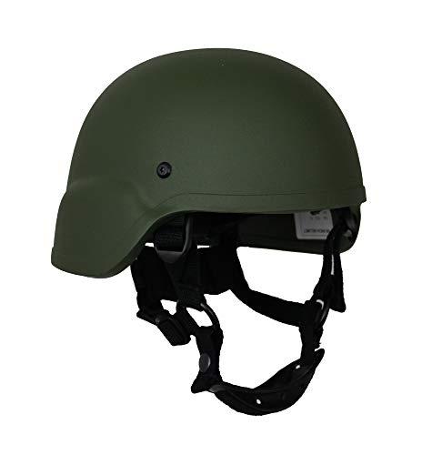 ZEBRA ARMOUR Gefechtshelm Mich AS-2000 Helmet KSK Farbe Oliv, Größe S/M (54-57) -