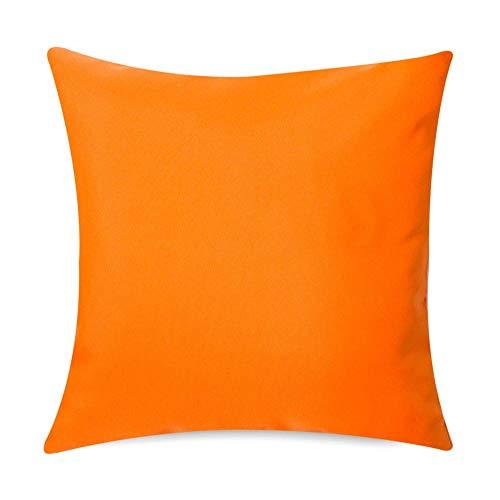 Gartenkissen Sitzpolster - 2 Stück, 43cm x 43cm - Orange - Wasserabweisend mit einer Textilfaserfüllung - Dekoratives Zierkissen für Gartenbänke, Stühle oder Sofas -