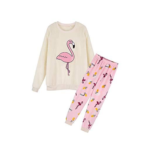 Cliont Linda Pijamas Conjunto Camisetas y Pantalones Ropa de Mujer