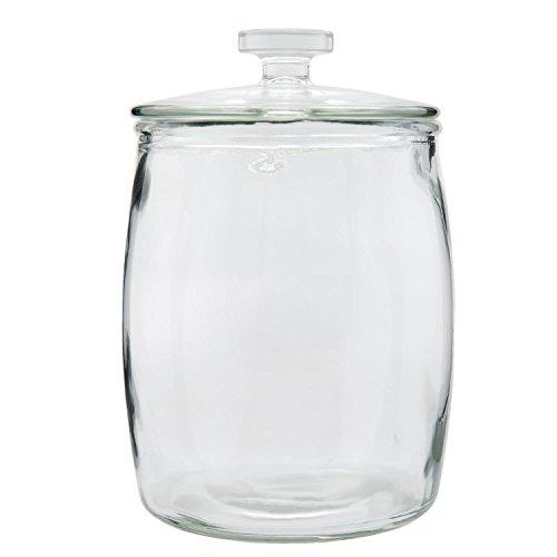 Clayre & Eef 6GL1529M Vorratstopf Vorratsglas Topf mittel mit Deckel transparent ca. Ø 18 x 26 cm