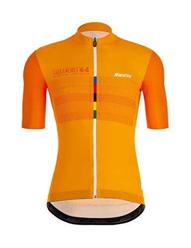 Santini UCI Eyes, T-Shirt à Manches Courtes pour Homme S Multicolo