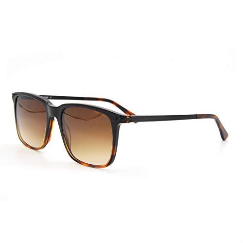 LKVNHP Neue Hochwertige Sonnenbrille Mens Fashion Unisex Square Vintage Polarisierte Gläser Polaroid Frauen Nieten Metall Design Retro SonnenbrilleKaffee
