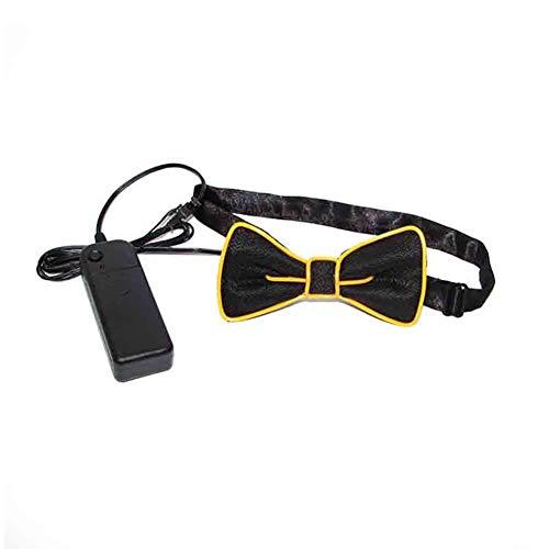 Dastrues Mode Männer LED EL Draht Krawatte Leuchtende Neon Blinklicht Fliege Für Club Cosplay Abend Party Dekoration