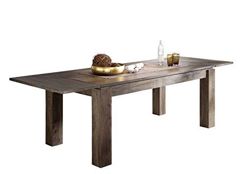 Table extensible 180-260x90cm - Bois massif de palissandre laqué - METRO POLIS #159