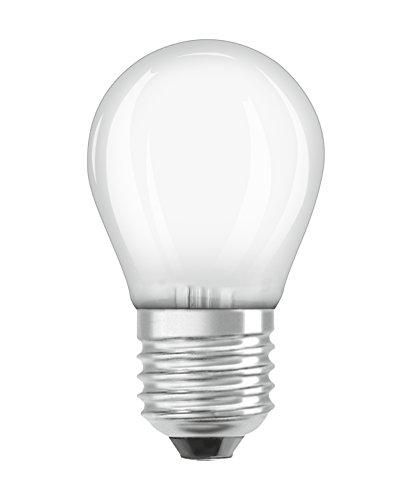 OSRAM Ampoule LED à Filament Dépolie | Culot E27 | Forme Sphérique | Blanc Chaud 2700K | 2,8W (équivalent 25W)