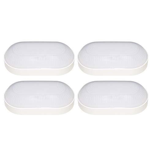 4 Stück LED Ovalleuchte BASE OVAL Kellerleuchte | Oktaplex lighting | IP65 | 4000K Neutralweiss |...