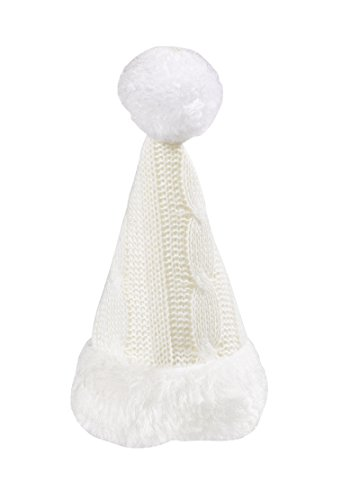Nikolaus-Mütze ca. 9 cm, weiss Strickoptik, Btl. a 25 St. (Weiße Nikolausmütze)