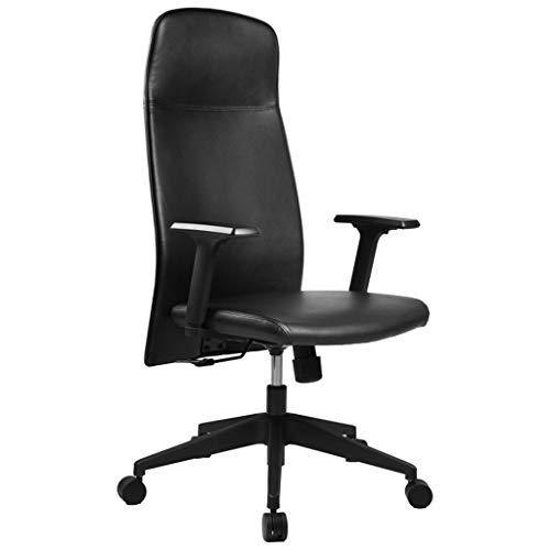 ADHKCF Bürostuhl aus PU-Leder mit hoher Rückenlehne 360   ° Drehen Executive-Stuhl Verdicktes Kissen und Sitzkissen (Executive Stuhl Kissen)