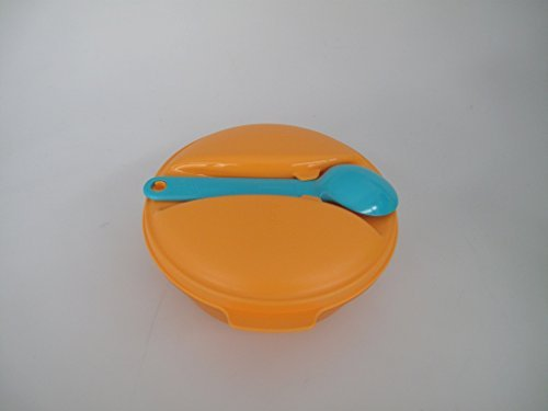 TUPPERWARE On the Go fruits 600 ml + Cuillère orange turquoise