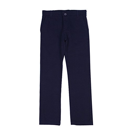 KID1234 Boys Skinny Chino Trousers Boys Slim Fit Trousers, Adjustable Waist Trousers, Elasticated Twill Trousers For Boys 4-13 Years In Daily Life,Festival and Holiday, 6 Colors To Choose