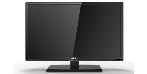 "TV AKAI LED 19"" AKTV1912T DIGITALE TERRESTRE DVB-T2 ALIM. 12V FUNZIONE HOTEL"