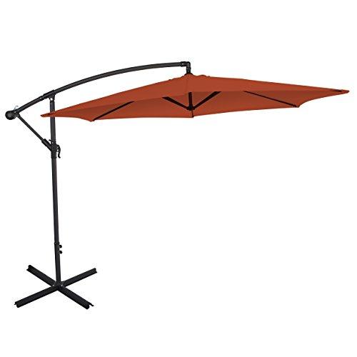 Ultranatura Ampelschirm, mit Kurbel, als Balkonschirm, Gartenschirm oder Marktschirm nutzbar,...