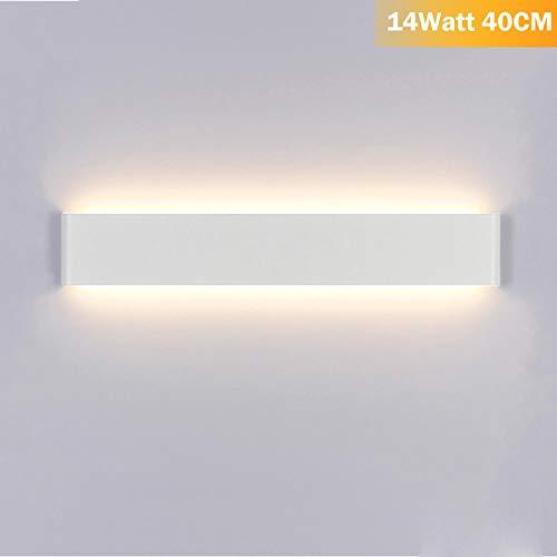 Aplique Pared Interior LED Blanco Cálido Lámpara de pared Moderna 14W Perfecto para Salon Dormitorio...