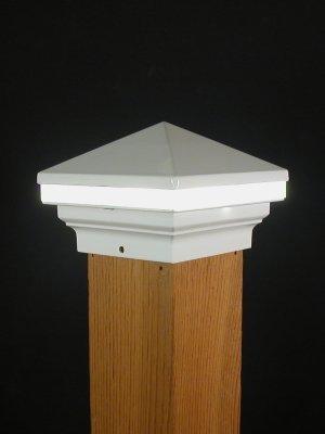 Iris Anello 12V Deck Licht, 3-1/5,1cm Post, Weiß - Post-low-voltage-deck