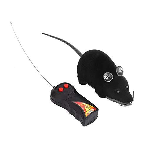 YuamMei Elektrische Mini-Fernbedienung Maus lustige Katze Hund Haustier Spielzeug (Schwarz)