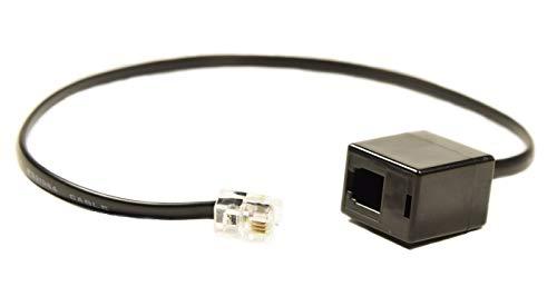 Wirelessfinest RJ9 4P4 C RJ9 in adattatore prolunga a sgancio rapido  rilascio connettore da maschio a femmina per Plantronics, Jabra, scrivania
