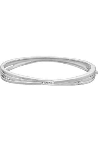 CHRIST-Silver-Diamonds-Damen-Armreif-925er-Silber-5-Brillanten-zus-ca-005-ct-silber-One-Size