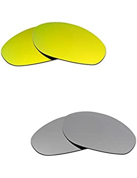 Hkuco Plus Mens Replacement Lenses For Oakley Monster Dog 24K Gold/Titanium Sunglasses