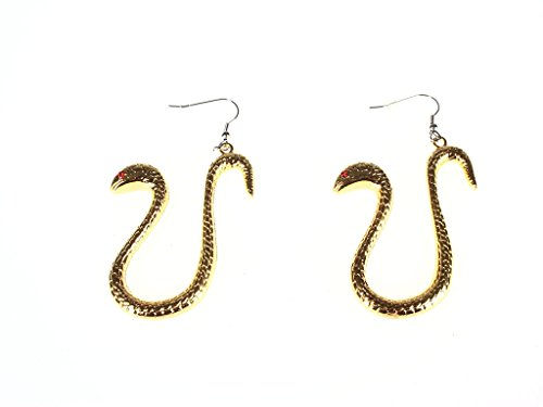ay Accessory Boa Hancock Golden Snake Earrings Ear Rings (Boa Hancock Kostüm)