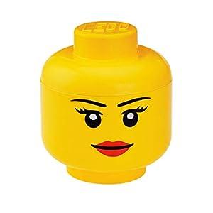 LEGO- Emblemática Cabeza Grande, Caja de almacenaje apilable, 8,5 l, Amarilla, Niña, Color (40321722)