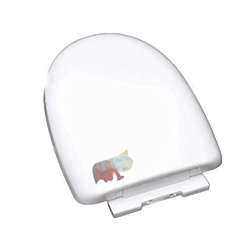 Forme de U Universel SièGe Toilette avec Slow Down Silent Slow Down Couvercle de toilette épaissi par ABS antibactérien pour salle de toilette