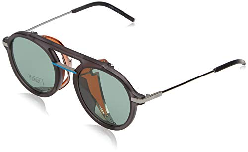 Fendi Herren FF M0012/S QT KB7 52 Sonnenbrille, Grau (Grey/Gun Green)