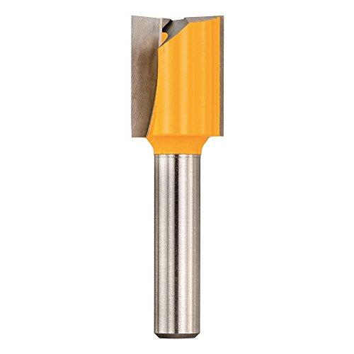Dewalt Hartmetall Nutfräser (Z2 zweischneidig, Schaft 8 mm, Fräsdurchmesser 22 mm, Arbeitslänge 20 mm, Gesamtlänge 52 mm, für Oberfräsen, zum Nuten, Fälzen, Langlochfräsen und Bohren) DT90011