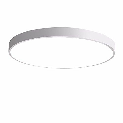 mpe Ultra-dünne LED Deckenleuchte Modern Einfachheit Pendelleuchte Stärke 5 cm Kinder Deckenlampe für Wohnzimmer Schlafzimmer Kinderzimmer Restaurant Balkon Innenbeleuchtung, weiß, 60cm weißes Licht (5 Licht, Deckenventilator)
