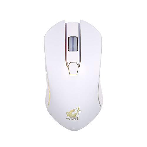 Docooler Wireless Gaming Maus Gratuito mit Maus Silent Gaming 1600DPI 3 DPI einstellbar und 2 programmierbare Tasten mit eingebauter Batterie -