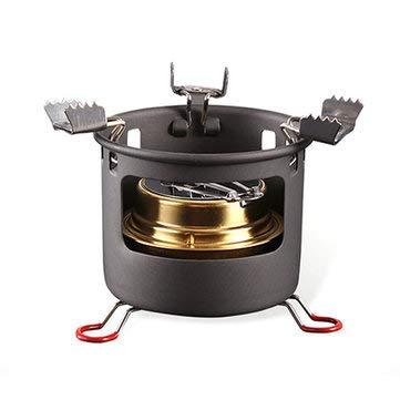 Alocs Outdoor Picknick & BBQ Kochkocher – CS-B13 Camping Picknick Alkohol Koch Ofen tragbar Flüssiger Brennstoff Ofen Brenner Herd – 1 x Campingkocher (Alkohol ist nicht im Lieferumfang enthalten)