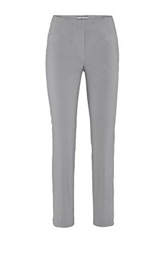 Stehmann - Stretchhose LOLI782 - die lange schmale Hose - schmale Pull-On Hose mit kleinem Schlitz-Innenbeinlänge 78 cm Silber