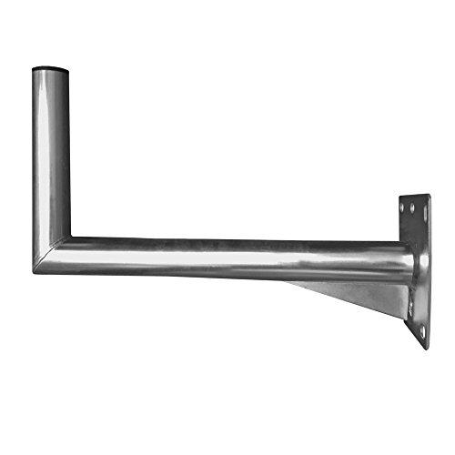 Sat Wandhalter 45cm Stahl verzinkt Ø 48 mm Antenne Schüssel Wand Halter Wandhalterung Montage-Zubehör robust stabil Zubehör ARLI 40 - 45 cm
