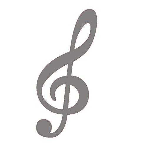 jiushizq Große Größe Violinschlüssel Musiknote Wandtattoos Vinyl Abnehmbare Wanddekor Aufkleber Für Wohnzimmer 4 44 cm X 91 cm