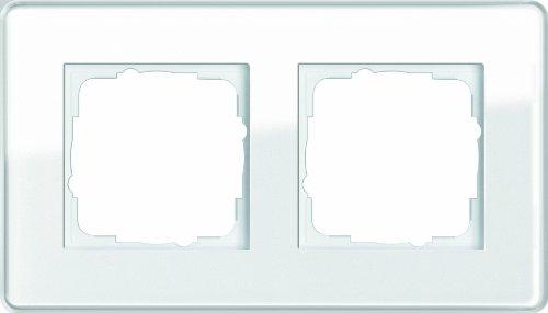 Preisvergleich Produktbild Gira 0212512 Abdeckrahmen 2-fach Esprit Glas C, weiß