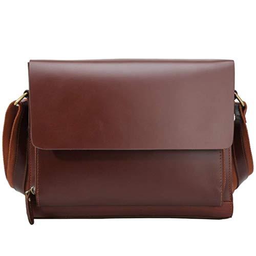 Lock-aktentasche Aus Leder (XiaoZou Leder Aktentasche Herren Lock Bag Business Lawyer Aktentasche Tablet Messenger Bag Messenger)