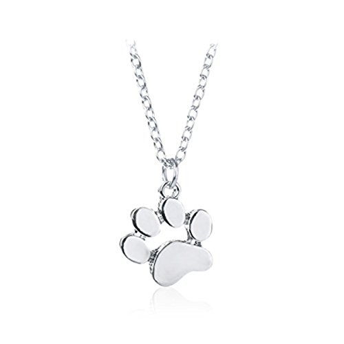MYKI Stylish Teens Fashion Cute Pets Dogs Footprints Paw Chain Pendant Necklace...