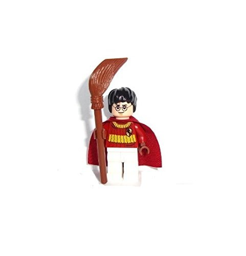 LEGO Harry Potter - Minifigur Harry Potter mit Umhang Quidditch und Besen